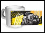Koolart TYRE TRAX 4x4 Design For Land Rover Discovery Twisted - Ceramic Tea Or Coffee Mug